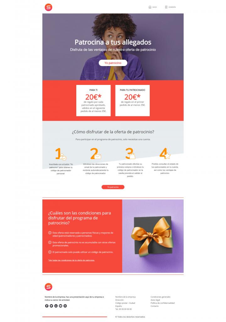 smart templates presentación de una oferta de recomendación