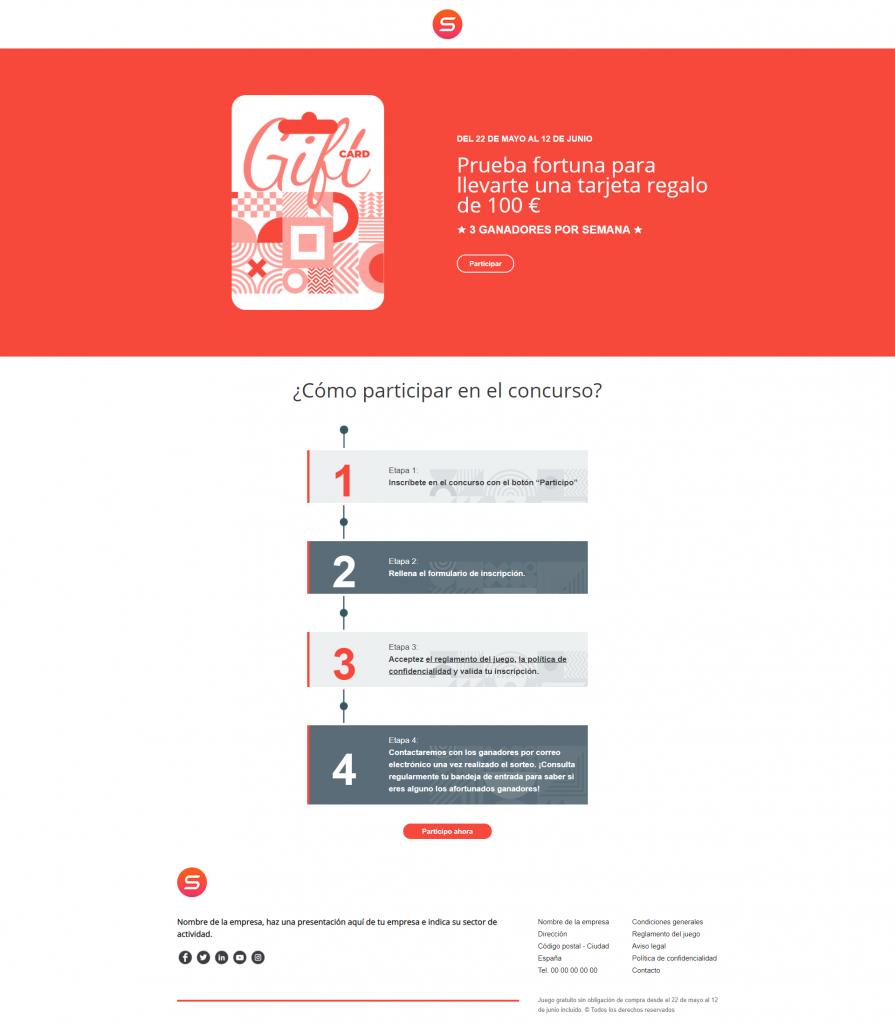 smart templates inscripción para participar en un concurso de juegos