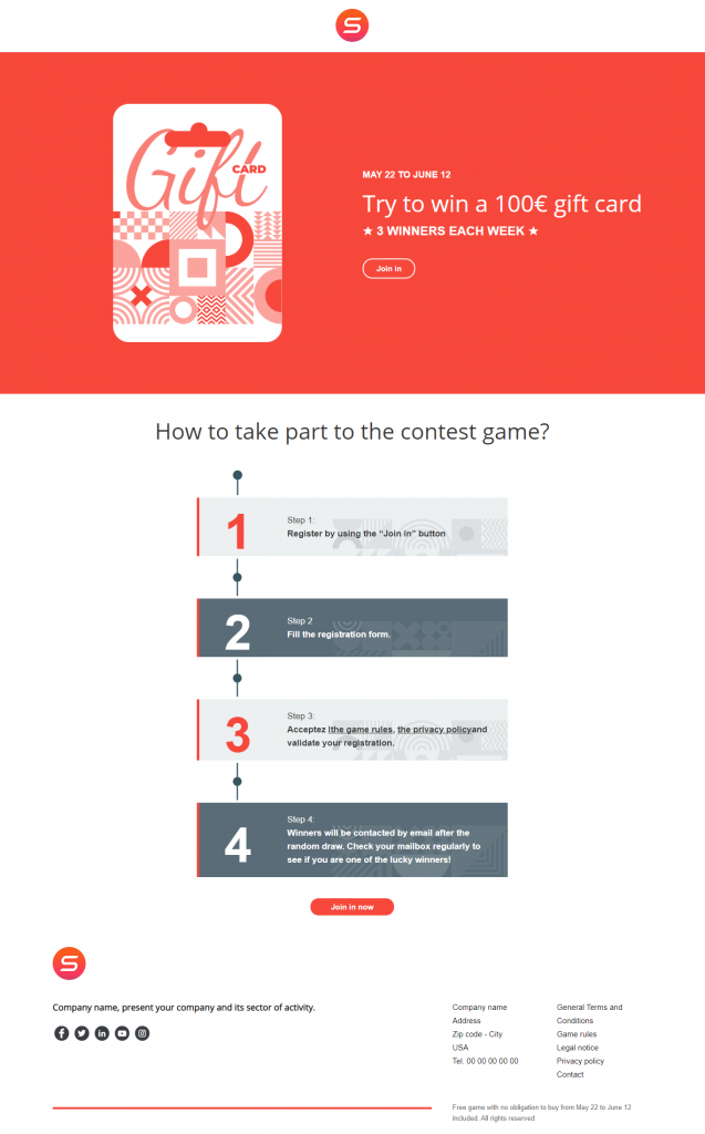 smart templates game contest