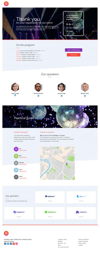smart templates event