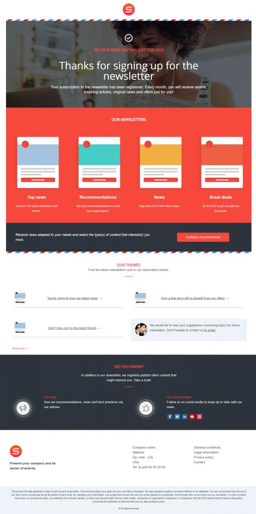 smart templates newsletter